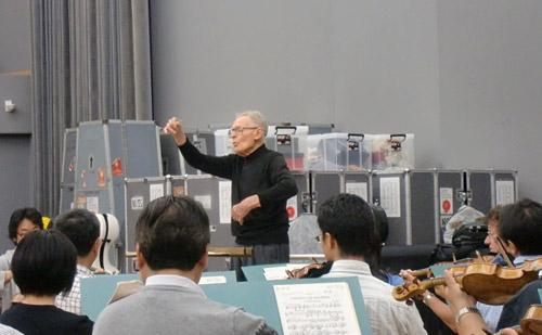 スクロヴァチェフスキ常任指揮者との練習風景
