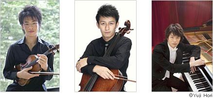 三大協奏曲で演奏する若手実力派の3名