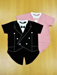 読響オリジナル燕尾Tシャツ こども110cm 黒/ピンク